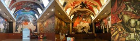 Murals al Casino de la Selva. Artistes varis, entre ells Benet Messeguer